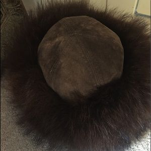 Accessories - Fox fur and suede hat